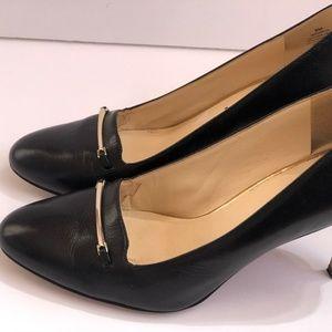 Nine West Women Heels Shoes Size 8M Black Leather